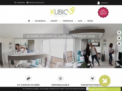 Kubic Up Meuble Gain De Place Low Cost Made In France