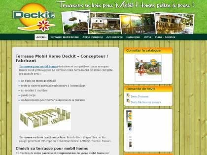 Deckit Fabricant De Votre Terrasses En Bois Pour Mobil Home