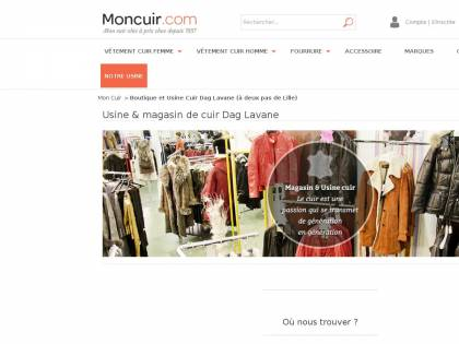 Vêtement cuir Lille Magasin Dag Lavane Moncuir
