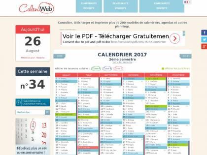 Calendrier 2021 Calenweb Calenweb : Calendrier, agenda, planning, emploi du temps pour 2018