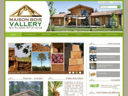 Maison Bois Vallery en pin des Landes