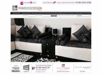 Primousse design : Salon marocain moderne sur mesure