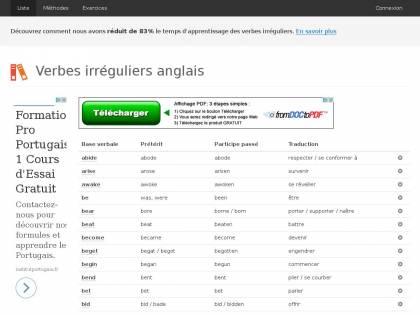 Verbes Irreguliers En Anglais Appendre Les Verbes Irreguliers Facilement