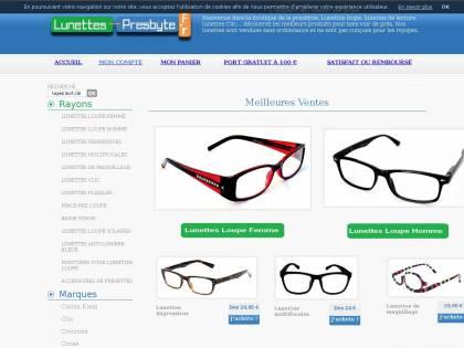 Lunettes Presbyte : Vente en ligne de lunettes