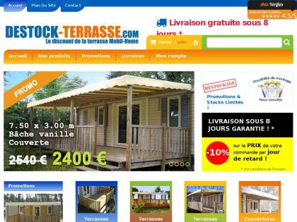 Destock Terrasse Com Vente En Ligne De Terrasses Mobil